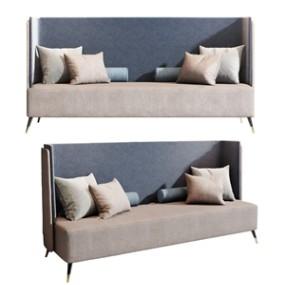 现代沙发组合3D模型【ID:636240746】