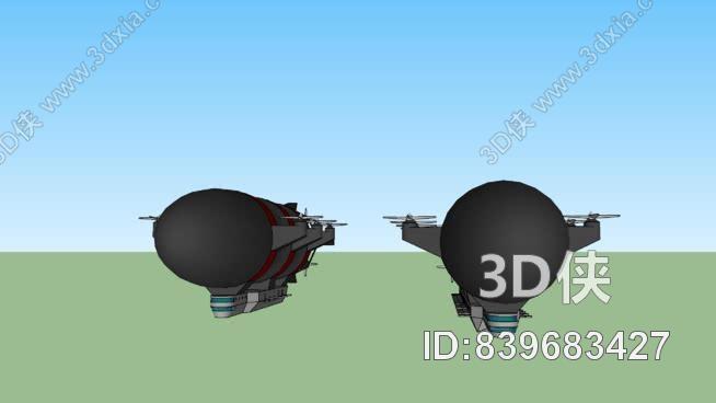 消防飛艇SU模型【ID:839683427】
