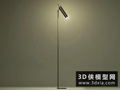 现代金属落地灯国外3D模型【ID:929692075】