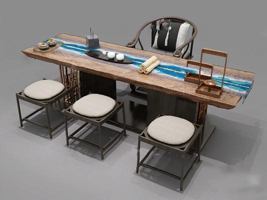 茶桌椅3D模型【ID:120016824】