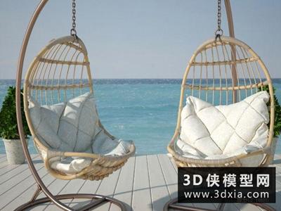 現代吊椅國外3D模型【ID:729579882】