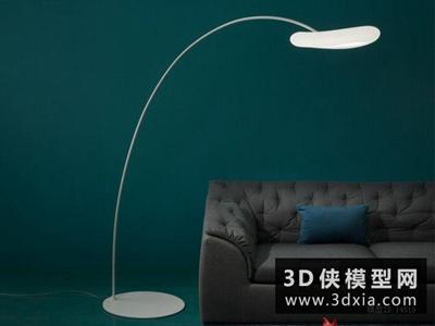 現代釣魚燈國外3D模型【ID:929735038】