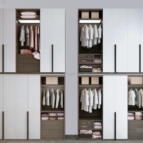 现代实木衣柜3d模型【ID:143276413】