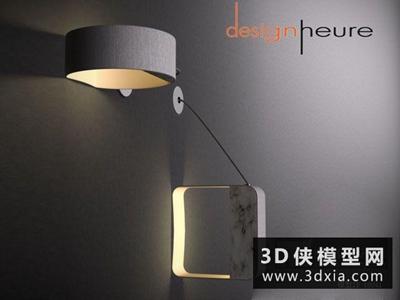 現代壁燈國外3D模型【ID:829597834】
