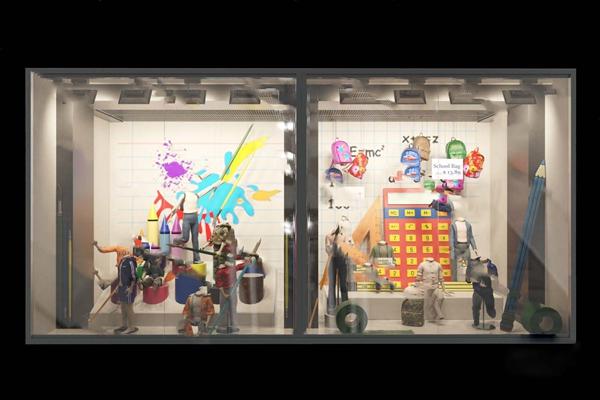 现代橱窗3D模型【ID:724890675】