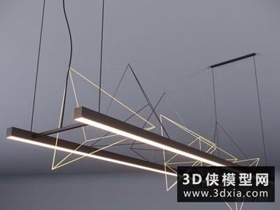 現代吊燈國外3D模型【ID:829376720】
