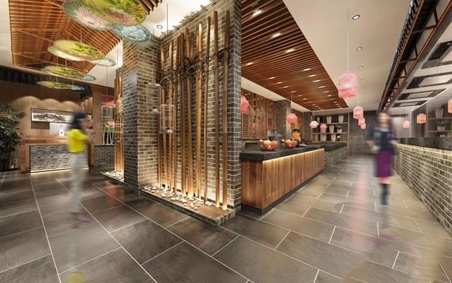 新中式餐廳3D模型【ID:228041947】