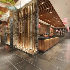 新中式餐厅3D模型【ID:228041947】