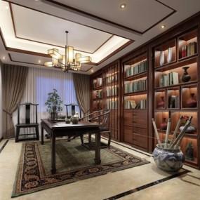 新中式茶室3D模型【ID:327915790】