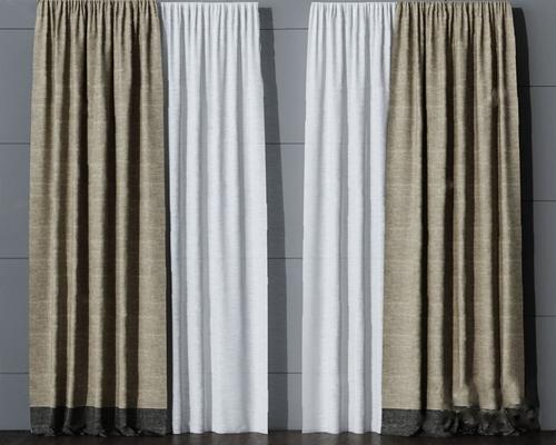 现代窗帘3D模型【ID:720009642】
