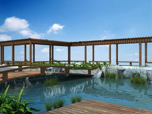 中式庭院3D模型【ID:724890507】