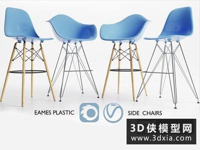 伊姆斯椅子組合國外3D模型【ID:729363863】