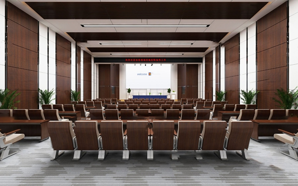 現代大會議室報告廳3D模型【ID:946209104】