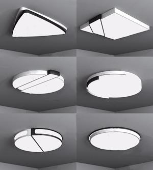 現代吸頂燈3D模型【ID:832394023】