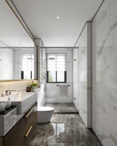 现代浴室卫生间3D模型【ID:127762615】