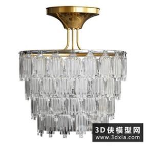 欧式水晶吊灯国外3D模型【ID:829325795】