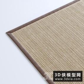 现代中式地毯国外3D模型【ID:329318849】