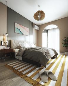 现代卧室书房3D模型【ID:927829574】