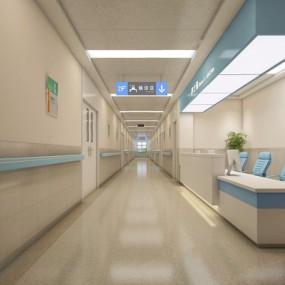 护士站过道3D模型【ID:928177645】