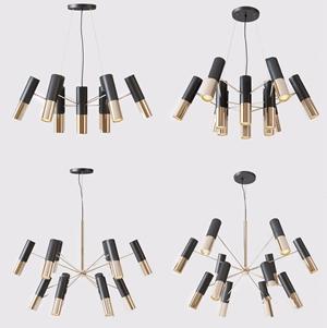 现代吊灯3D模型【ID:741356812】