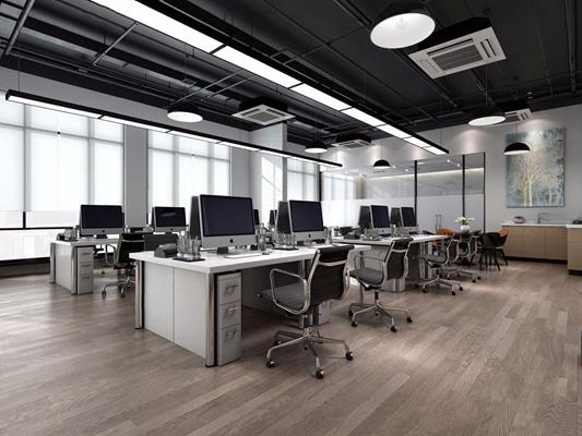 现代办公区3D模型【ID:728095655】