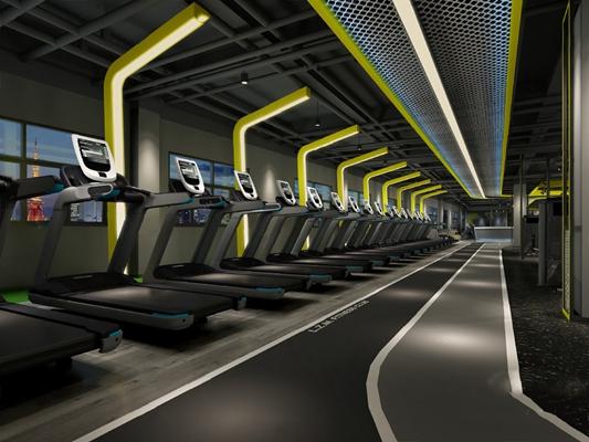 现代健身房3D模型【ID:120604873】
