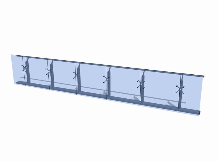 玻璃栏杆SU模型【ID:336374777】