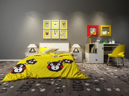儿童床3D模型【ID:720617193】