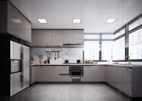 现代简约厨房橱柜3D模型【ID:927816541】