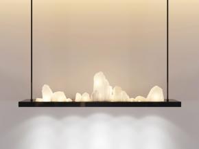 新中式吊燈3D模型【ID:527800829】
