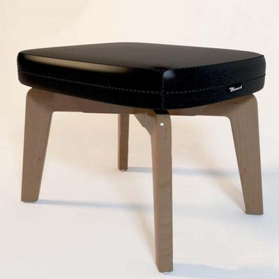 简约欧式实木皮革小矮凳沙发凳3D模型【ID:46917536】