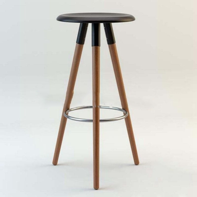 美式乡村LOFT实木高脚凳高脚凳3D模型【ID:46917538】