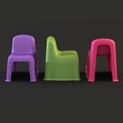 儿童塑料靠背椅子现代简约3D模型【ID:46918032】