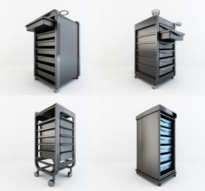 现代理发店金属推车3D模型【ID:227779789】
