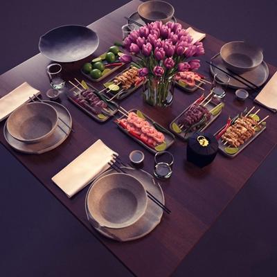 餐具3D模型【ID:920013394】
