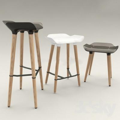 北欧简约吧椅吧凳国外模型3D模型【ID:46948836】
