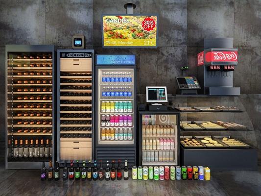 冰柜酒柜3D模型【ID:46960966】