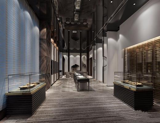 新中式商业展厅3D模型【ID:528039417】