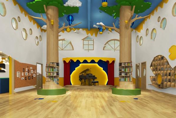 现代幼儿园大厅3D模型【ID:124897855】