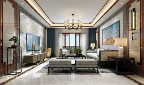 新中式客厅3D模型【ID:927818501】