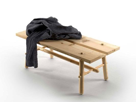 现代实木长凳3D模型【ID:47003538】