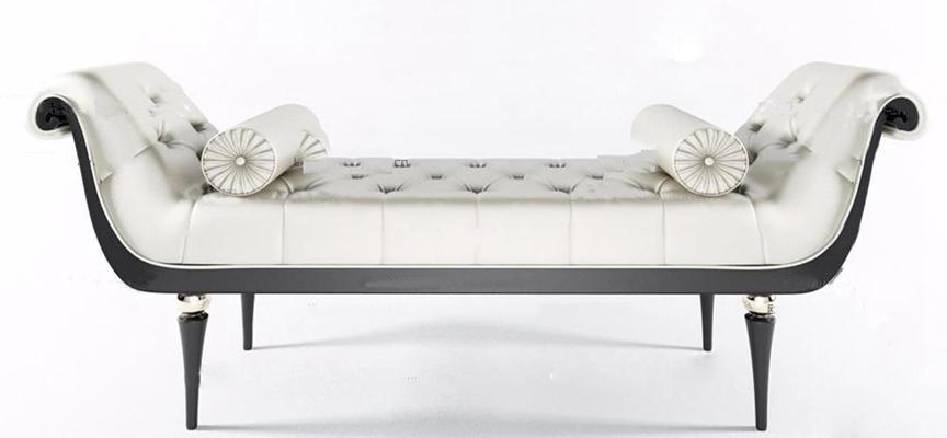 欧式床尾凳3D模型【ID:47070146】