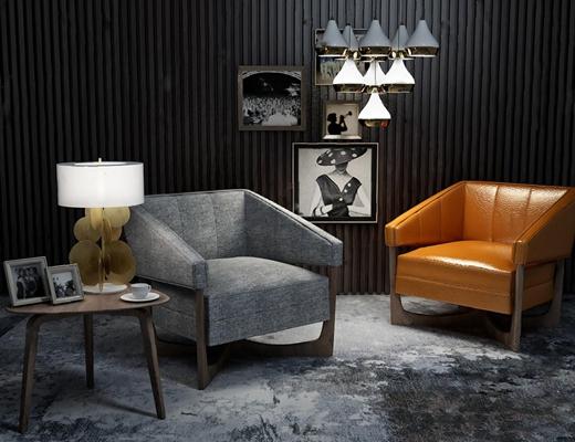 沙发椅3D模型【ID:47083321】