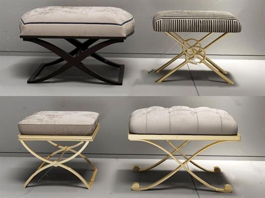 沙发凳3D模型【ID:47085138】