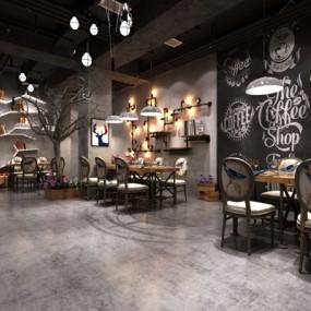 餐饮空间3D模型【ID:47096211】