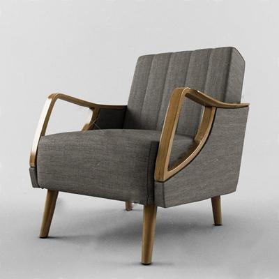 沙发椅3D模型【ID:47096527】