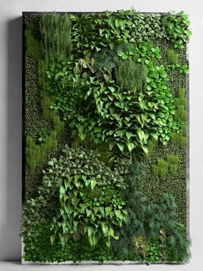 绿化墙3D模型【ID:47098322】