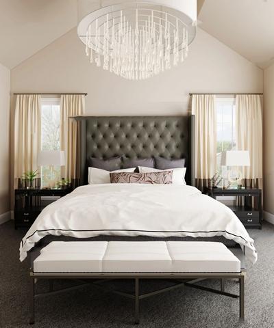 中美混搭卧室床具组合3D模型【ID:47112731】