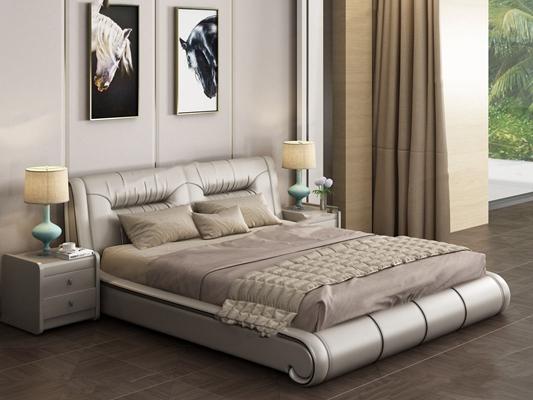 现代床具3D模型【ID:47112737】