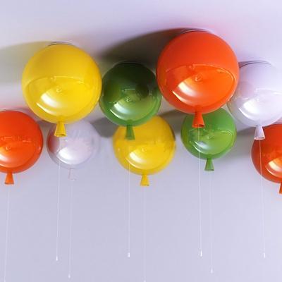 现代儿童气球装饰灯3D模型【ID:47153853】